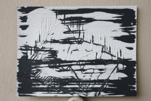Acrylic paint on lino, 2012