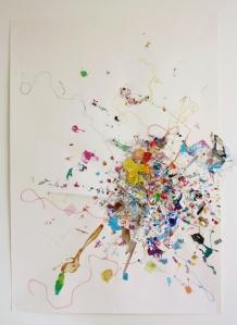 Nova, Mixed Media on Paper, 123cm x 59cm, 2014