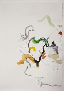Mono, Graphite, Watercolour and collage on paper, 21cm x 14.5 cm, 2014