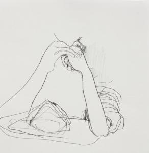 Rest, Graphite on paper, 2013