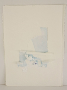 Blue, 4 x sheets of Paper + watercolour, 2014