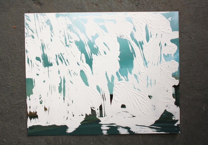 Untitled, acrylic on photograph, December 2012