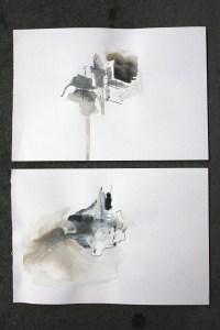 Pair, pen, watercolour & emulsion on paper, 2011