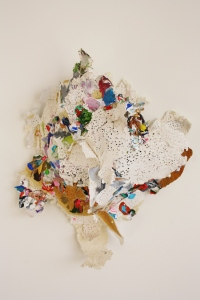 Bride, Paper, Watercolour and Acrylic, 30cm x 25cm x 13cm, 2014