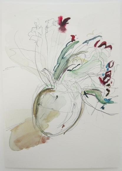 hPractice Run, Biro and Watercolour, 21cm x 15cm, 2019